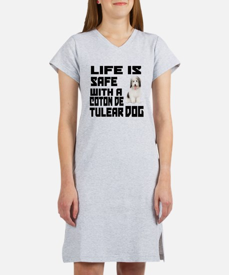 Life Is Safe With A Coton De Tu Women's Nightshirt