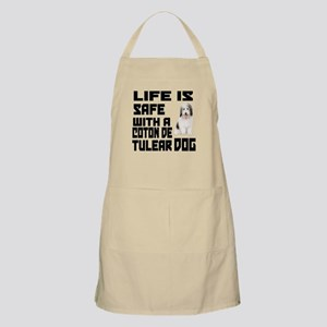 Life Is Safe With A Coton De Tulear Apron