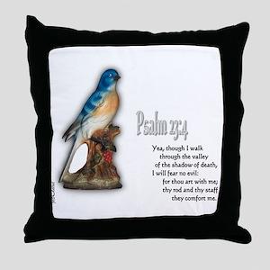 Psalm 23:4 Throw Pillow