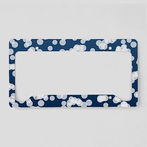 Blurry Lights: Dark Blue License Plate Holder