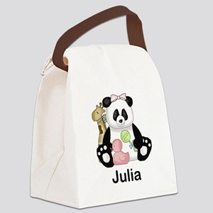 julia's little panda Canvas Lunch Bag