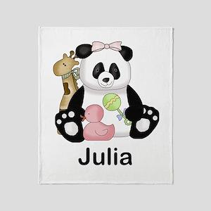 julia's little panda Throw Blanket