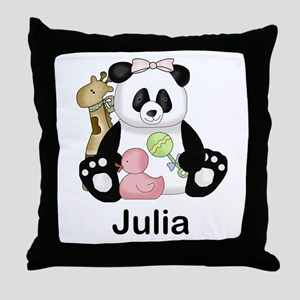 julia's little panda Throw Pillow