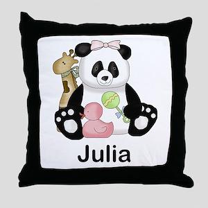 julia's little panda Throw Pillow