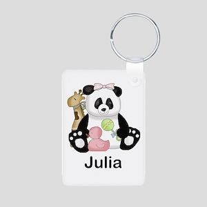 julia's little panda Aluminum Photo Keychain