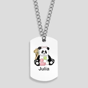 julia's little panda Dog Tags