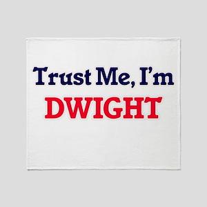 Trust Me, I'm Dwight Throw Blanket