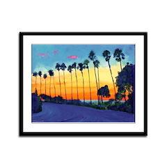 California Sunset Framed Panel Print