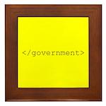 </government> Framed Tile