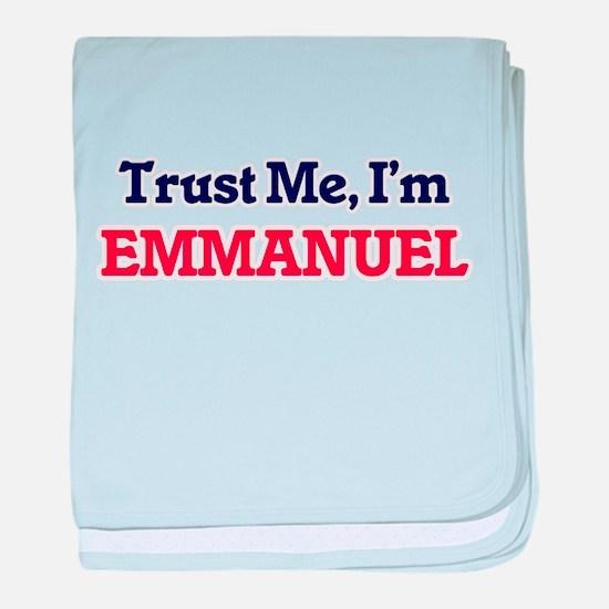 Trust Me, I'm Emmanuel baby blanket