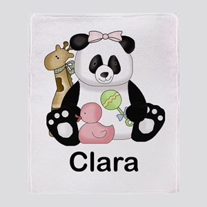 clara's little panda Throw Blanket