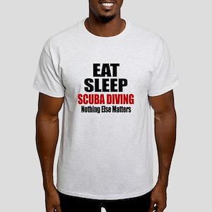 Eat Sleep Scuba Diving Light T-Shirt
