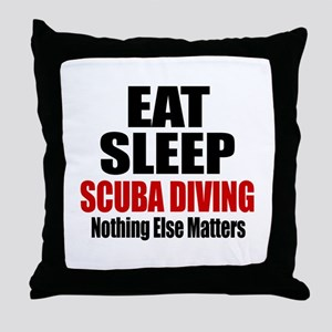 Eat Sleep Scuba Diving Throw Pillow