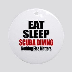 Eat Sleep Scuba Diving Round Ornament