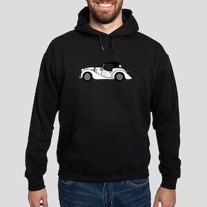 White Morgan Car Cartoon Hoodie (dark)