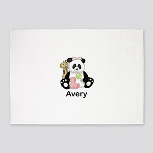 avery's little panda 5'x7'Area Rug