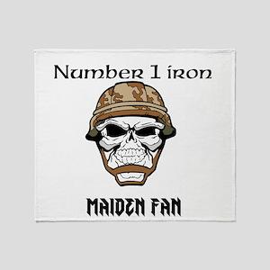#1 Iron Maiden Fan Throw Blanket