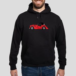 Red Morgan Car Cartoon Hoodie (dark)