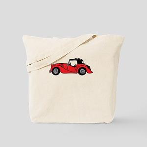 Red Morgan Car Cartoon Tote Bag
