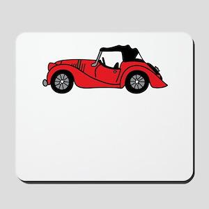 Red Morgan Car Cartoon Mousepad