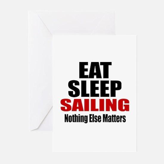 Eat Sleep Sailing Greeting Cards (Pk of 10)