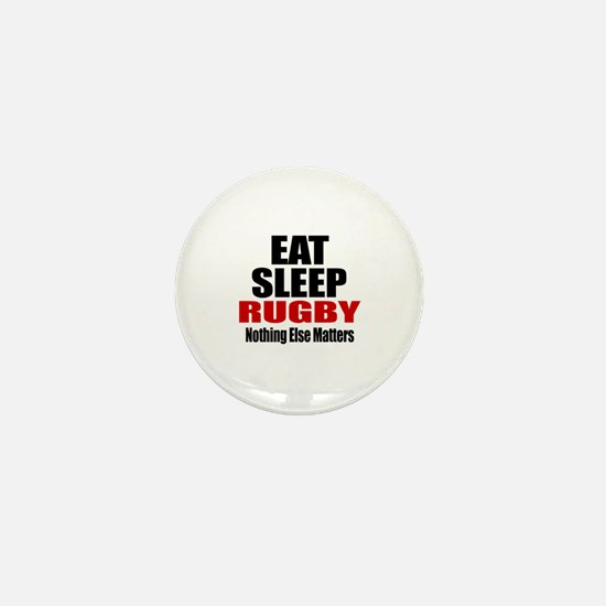 Eat Sleep Rugby Mini Button