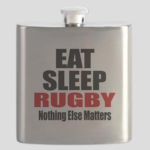 Eat Sleep Rugby Flask