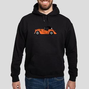 Orange Morgan Car Cartoon Hoodie (dark)