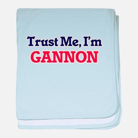 Trust Me, I'm Gannon baby blanket