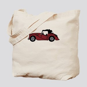 Burgundy Morgan Car Cartoon Tote Bag