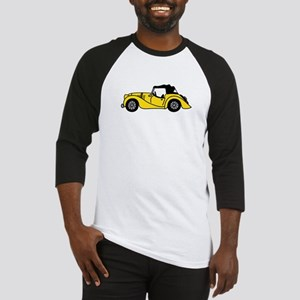 Yellow Morgan Car Cartoon Baseball Jersey