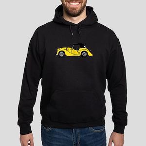 Yellow Morgan Car Cartoon Hoodie (dark)