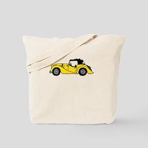 Yellow Morgan Car Cartoon Tote Bag