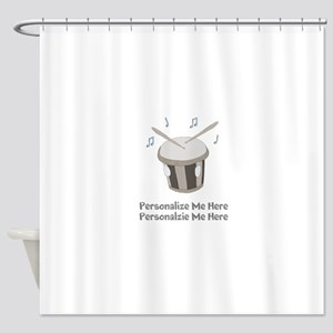 Personalized Drum Shower Curtain