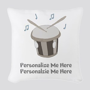 Personalized Drum Woven Throw Pillow