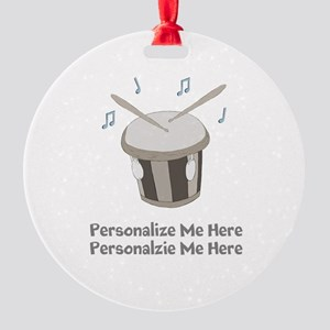 Personalized Drum Round Ornament