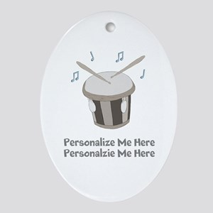 Personalized Drum Oval Ornament