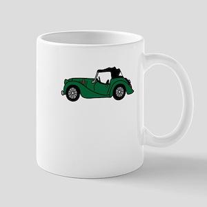 Green Morgan Car Cartoon Mug