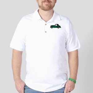 Green Morgan Car Cartoon Golf Shirt
