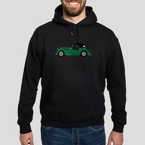Green Morgan Car Cartoon Hoodie (dark)