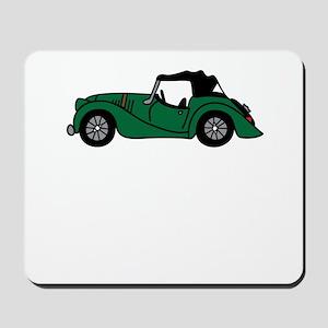 Green Morgan Car Cartoon Mousepad