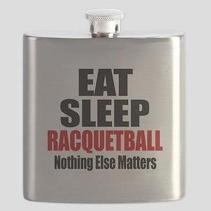 Eat Sleep Racquetball Flask