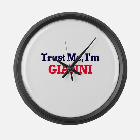 Trust Me, I'm Gianni Large Wall Clock
