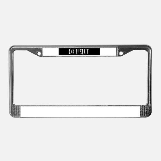 Goth slut License Plate Frame