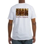 Wat Pho Figures Fitted T-Shirt