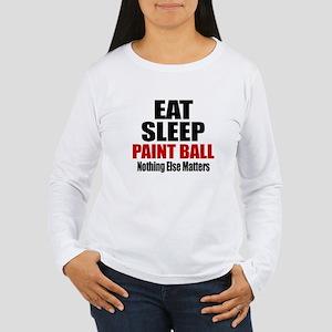 Eat Sleep Paint Ball Women's Long Sleeve T-Shirt