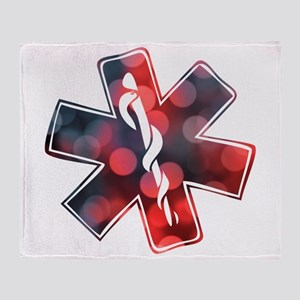 star of life bokeh Throw Blanket