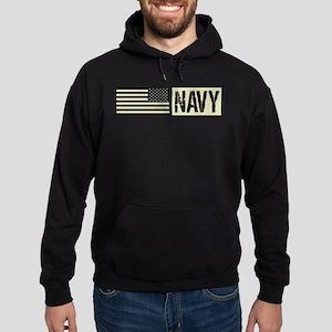 U.S. Navy: Military Black Backwards Flag Hoodie