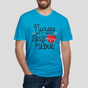Funny Nurse Men's Fitted T-Shirt (dark)