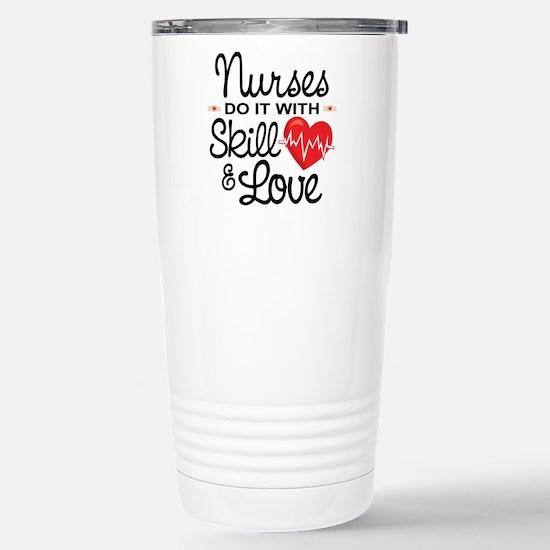 Funny Nurse Stainless Steel Travel Mug